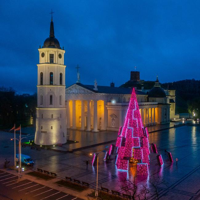 """Vilniaus Kalėdų eglės """"timelapse"""""""